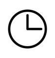 clock icon time or alarm theme outline modern vector image vector image