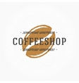 Coffee Shop Hand Drawn Logo Template vector image vector image