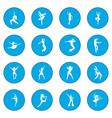 dances icon blue vector image