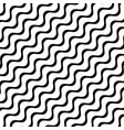 diagonal stripes waves geometric pattern vector image vector image