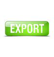 export green square 3d realistic isolated web vector image vector image