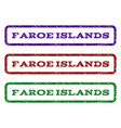 faroe islands watermark stamp vector image vector image