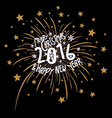 Firework design for christmas and new year 2016 vector image vector image