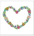 Flower heart frame vector image vector image