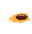 football ball icon with an effect vector image vector image