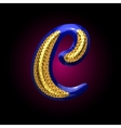 golden and blue letter c vector image vector image
