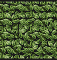 green leaves on the nature background vector image