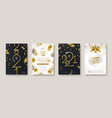 greeting card with golden 2021 new year logo vector image