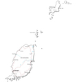 Grenada Black White Map vector image vector image