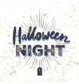 halloween party invitation card grunge vector image vector image