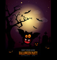 halloween poster and invitation design vector image vector image