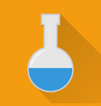 laboratory flask flat icon modern vector image vector image