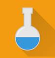 laboratory flask flat icon modern vector image vector image