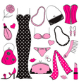Ladies Fashion Set vector image