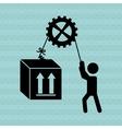 man lifting design vector image vector image