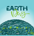 mandala eco design template earth day card with vector image