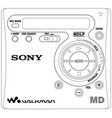 minidisk player vector image vector image