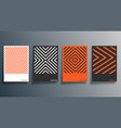 minimal geometric design for flyer poster vector image vector image