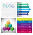 Modern strips infographics 10 options banner for