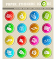 money icon set vector image