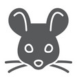 mouse glyph icon animal and zoo rat sign vector image