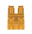 Notre Dame de Paris Cathedral isolated on white