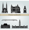 Ottawa V2 landmarks and monuments vector image vector image