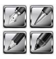 pen icon set 10 v vector image vector image