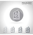 Philology outline icon vector image vector image