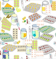 pills pattern vector image vector image