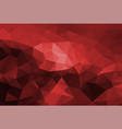 polygon background dark red vector image vector image