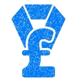 Pound Award Grainy Texture Icon vector image vector image