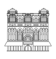 Queen Victoria Building icon in outline style vector image