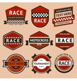 Racing badges set - vintage style vector image vector image