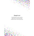 Rainbow page corner design template vector image vector image