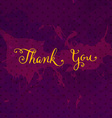 rustic thank you card vector image vector image
