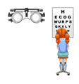 scientific medical eye test vector image vector image