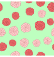 Seamless background of roses pictures vector image vector image