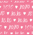 seamless pattern with xoxo phrase vector image vector image