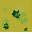 seamless wallpaper green maple leaves vector image vector image