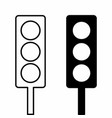 semaphore icons set vector image