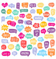 set different shape colorful speech bubbles vector image vector image