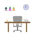 Study room in flat design vector image