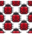 Stylized red ladybug seamless pattern vector image vector image