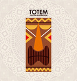 totem design vector image vector image