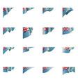 tuvalu flag on a white vector image