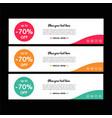 web banners templates horizontal web banne vector image vector image