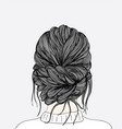 women hairstyles taken from that back side after vector image vector image