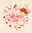 Floral ornament with hearts for your design vector image