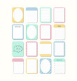 sheets of paper template notepad collection of vector image